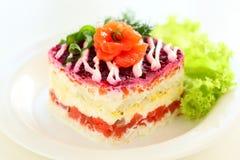 Salat-Fischmantel. Lizenzfreie Stockfotos