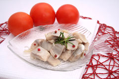Salat of fish Stock Photography