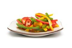 Salat grünen Pfeffers Stockfotos
