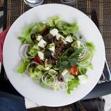 Salat greco Immagini Stock