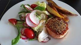 Salat, Lachs Stockbilder