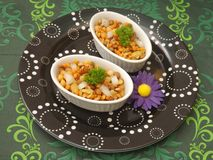 Salat of lentils and corn Royalty Free Stock Image