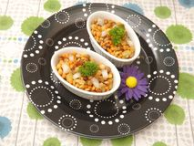 Salat of lentils and corn Royalty Free Stock Photography