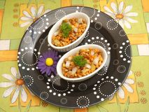Salat of lentils and corn Stock Photography