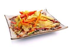 Salat mit Aal Lizenzfreie Stockbilder