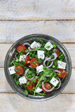Salat mit Arugula stockbilder