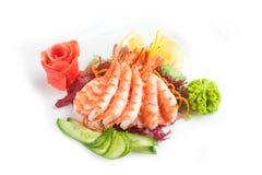 Salat mit essbaren Meerestieren Lizenzfreie Stockfotografie