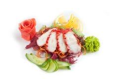 Salat mit essbaren Meerestieren Lizenzfreies Stockfoto