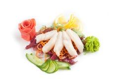 Salat mit essbaren Meerestieren Lizenzfreies Stockbild