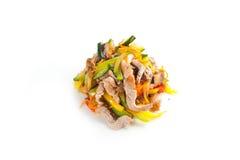Salat mit essbaren Meerestieren Lizenzfreie Stockbilder