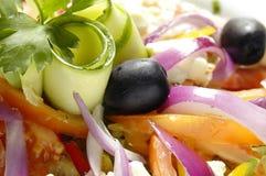 Salat mit Feta-Käse stockbild