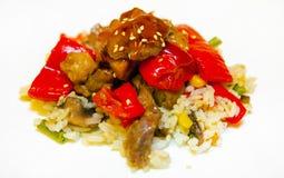 Salat mit Fleisch Lizenzfreie Stockbilder