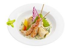 Salat mit Garnele Stockfoto