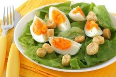 Salat mit gekochten Eiern Stockfotografie