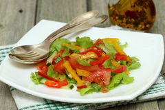 Salat mit Gemüse lizenzfreies stockfoto