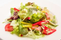 Salat mit Grüngemüse Lizenzfreie Stockfotos