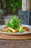 Salat mit Grüns Stockfoto