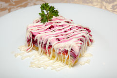 Salat mit Heringen 2 Lizenzfreie Stockbilder