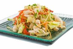 Salat mit Huhn 2 stockfoto