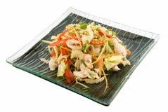 Salat mit Huhn stockbild