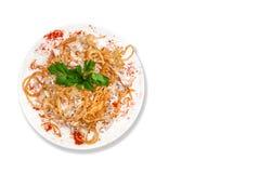 Salat mit Huhn und Pilzen Stockfotografie