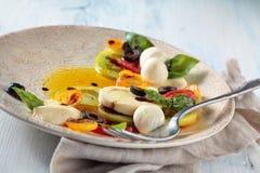 Salat mit italienischem Mozzarella Stockbilder