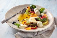 Salat mit italienischem Mozzarella Lizenzfreies Stockbild
