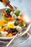 Salat mit italienischem Mozzarella stockfotografie