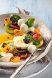 Salat mit italienischem Mozzarella lizenzfreies stockfoto