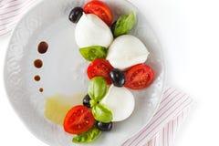 Salat mit italienischem Mozzarella Caprese stockfotografie