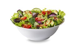 Salat mit Kopfsalat und Gemüse Stockbilder