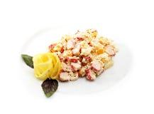 Salat mit Krabbenfleisch Stockfotos