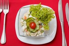 Salat mit Krebsfleisch Lizenzfreie Stockbilder