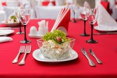 Salat mit Krebsfleisch Stockfoto
