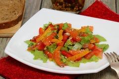 Salat mit Lachsen Stockbilder