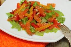 Salat mit Lachsen Lizenzfreies Stockfoto
