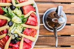 Salat mit Mais Lizenzfreie Stockfotografie