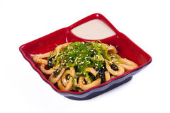 Salat mit mariniertem Calamari Lizenzfreies Stockfoto