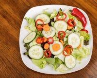 Salat mit rotem Pfeffer Lizenzfreie Stockfotos