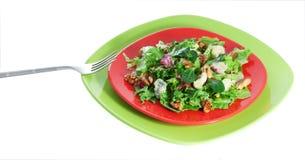 Salat mit sapsago Käse und Walnuss Stockbilder
