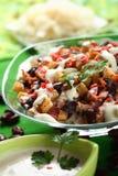 Salat mit Sauerkraut Stockbild