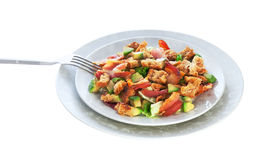 Salat mit Speck und Avocado Lizenzfreies Stockfoto