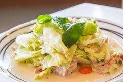 Salat mit Thunfisch für gesunde Art Lizenzfreie Stockfotos