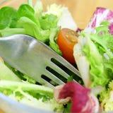 Salat mit tomatoe Stockbilder