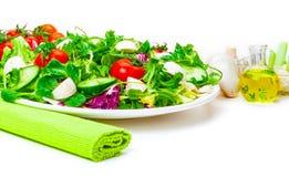 Salat, molho, Ã-l Foto de Stock Royalty Free