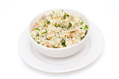 Salat olivier Stockfoto