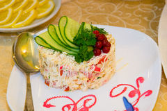 Salat olivier Lizenzfreie Stockfotos