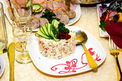 Salat olivier Lizenzfreies Stockbild