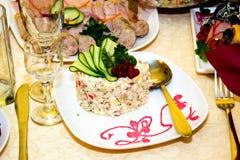 Salat olivier Stockfotografie