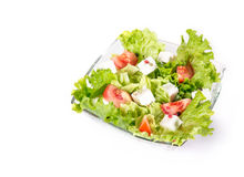 Salat over white Royalty Free Stock Images